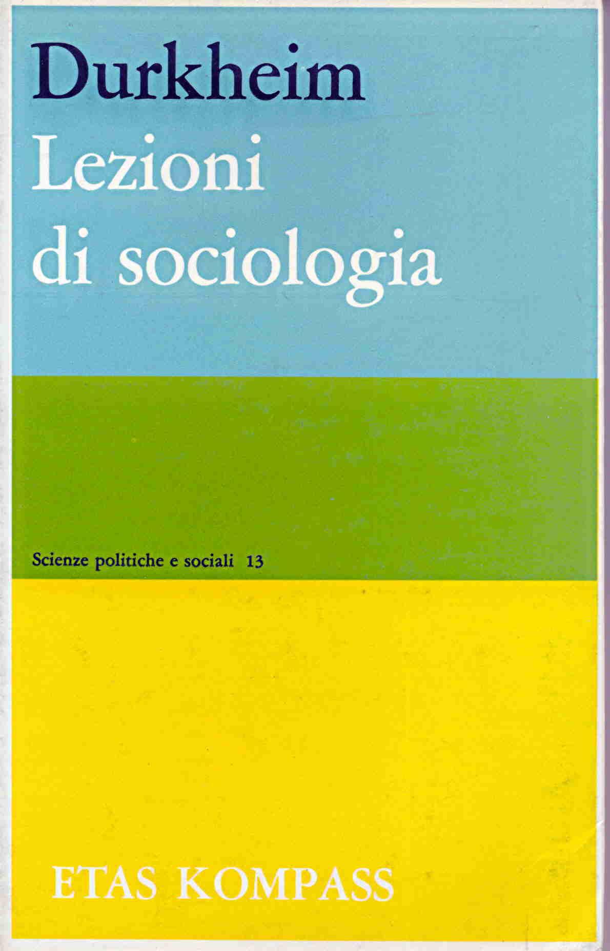 Lezioni di sociologia