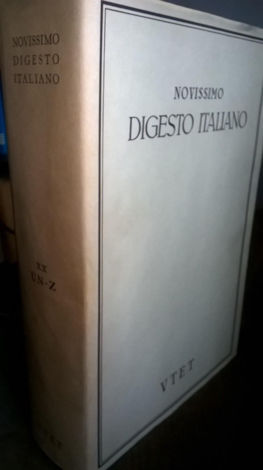 Novissimo digesto italiano - vol. XX