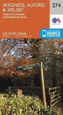 OS Explorer Map (274) Skegness, Alford and Spilsby