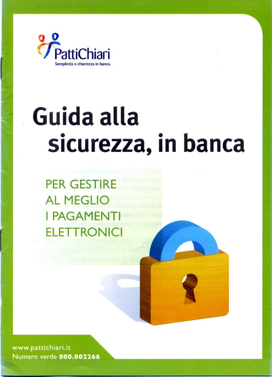 Guida alla sicurezza, in banca