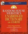 Random House Webster's Unabridged Dictionary on CD-ROM