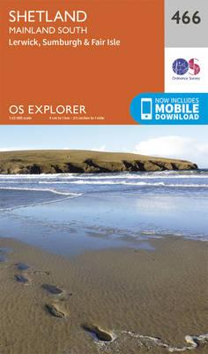 OS Explorer Map (466) Shetland - Mainland South