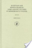 Egyptian and Semito-Hamitic (Afro-Asiatic) Studies