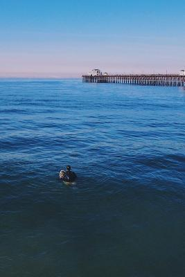 Surfing by the Pier