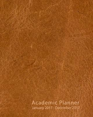 Brown Leather 2017 Academic Planner