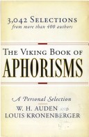 Viking Book of Aphorisms a Personal Sele