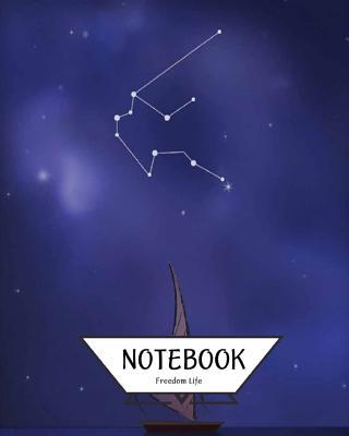 Notebook Journal Graph, Line, Blank No Lined Aquarius Constellation
