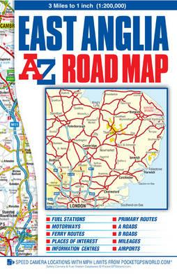 East Anglia Road Map (A-Z Road Map)