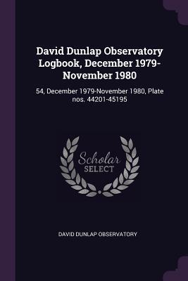 David Dunlap Observatory Logbook, December 1979-November 1980