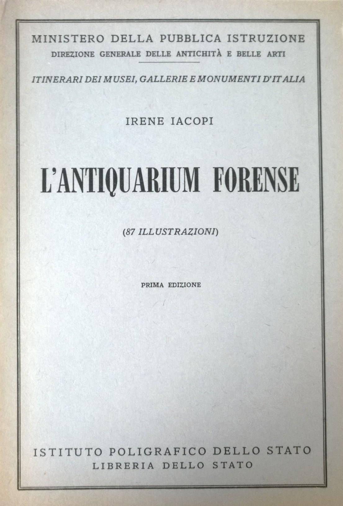 L'Antiquarium forense