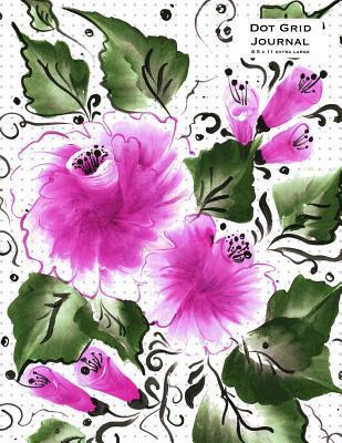 Magenta Floral Dot Grid Journal