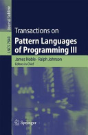 Transactions on Pattern Languages of Programming III