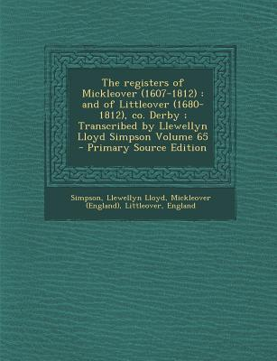 The Registers of Mickleover (1607-1812)