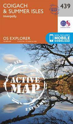 OS Explorer Map Active (439) Coigach and Summer Isles