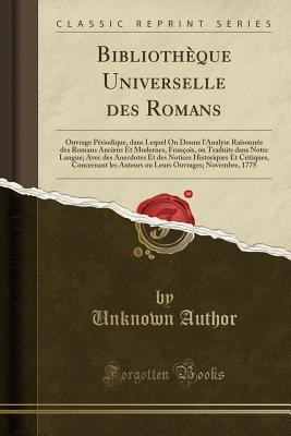 Bibliothèque Universelle des Romans
