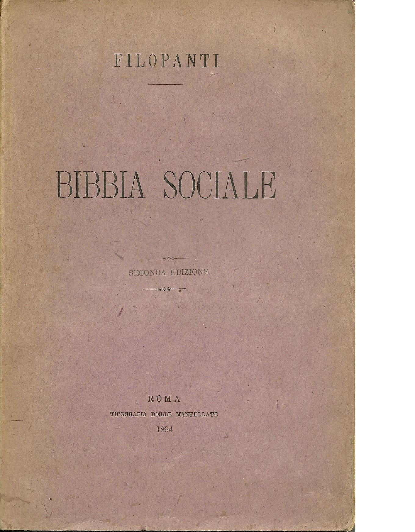 Bibbia sociale