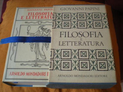 Filosofia e letteratura