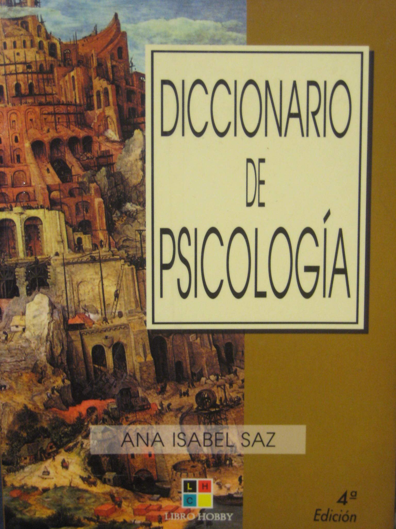 Diccionario de psicología
