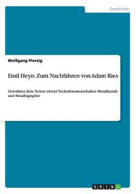 Emil Heyn. Zum Nachfahren von Adam Ries