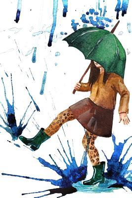 Dancing in the Rain With a Green Umbrella Illustration Journal
