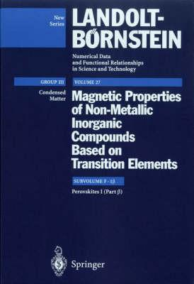 Magnetic Properties of Non-Metallic Inorganic Compounds Based on Transition Elements