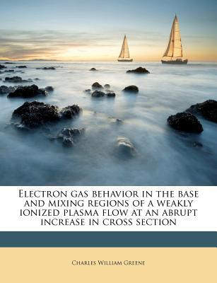 Electron Gas Behavior in the Base and Mixing Regions of a Weakly Ionized Plasma Flow at an Abrupt Increase in Cross Section