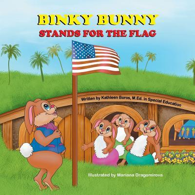 Binky Bunny Stands for the Flag