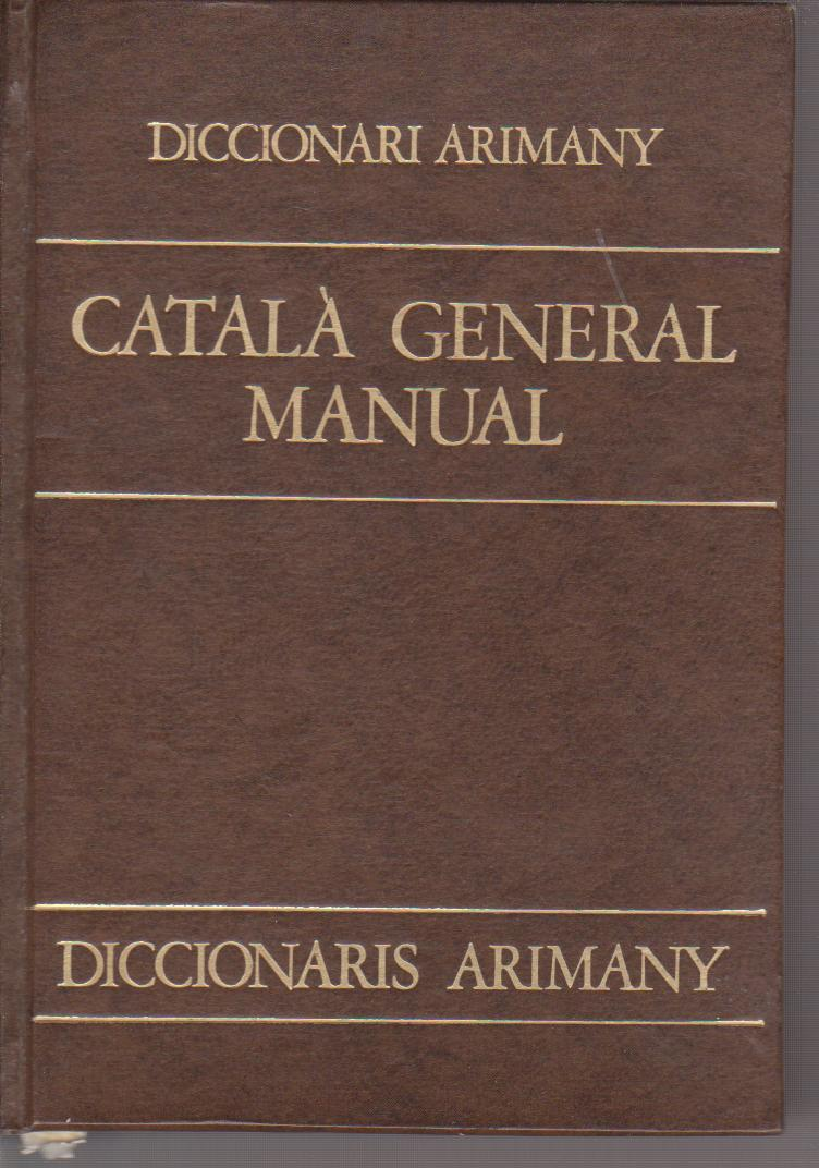 Diccionari català general manual