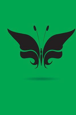 Black on Green Butterfly Design Journal
