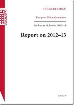 House of Lords Paper 15 Session 2013-14