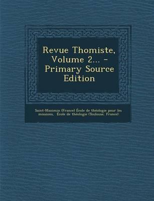 Revue Thomiste, Volu...