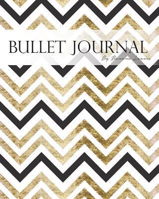 Metallic Black Gold Chevron Geometric Abstract Bullet Journal Notebook