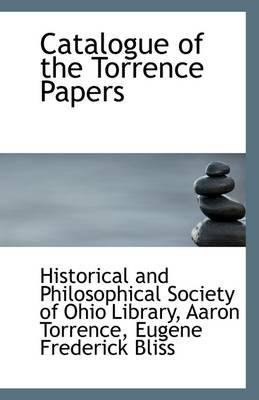 Catalogue of the Torrence Papers
