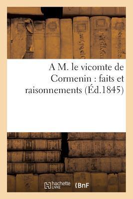 A M. le Vicomte de Cormenin
