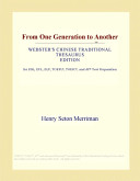 From One Generation to Another (Webster's Chinese Traditional Thesaurus Edition)
