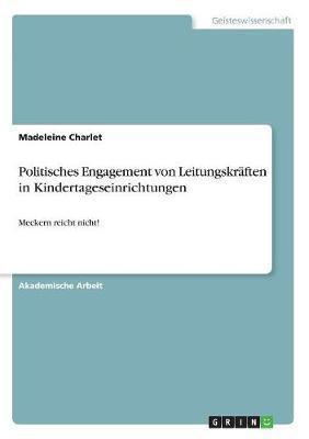 Politisches Engagement von Leitungskräften in Kindertageseinrichtungen