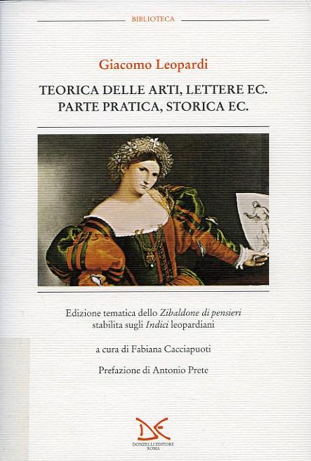 Teorica delle arti, lettere ec. Parte pratica, storica ec.