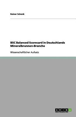 BSC Balanced Scorecard in Deutschlands Mineralbrunnen-Branche