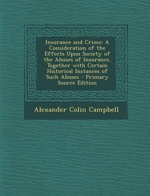 Insurance and Crime