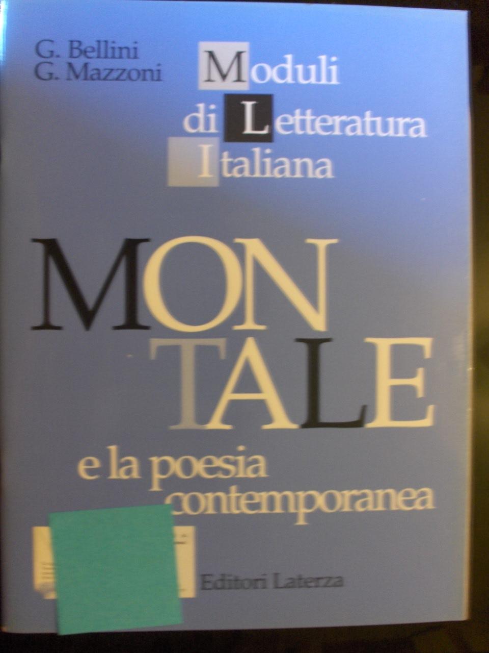 Montale e la poesia contemporanea