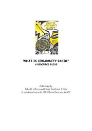 What Is Community Radio?