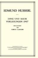 Husserliana, Band 16: Ding und Raum