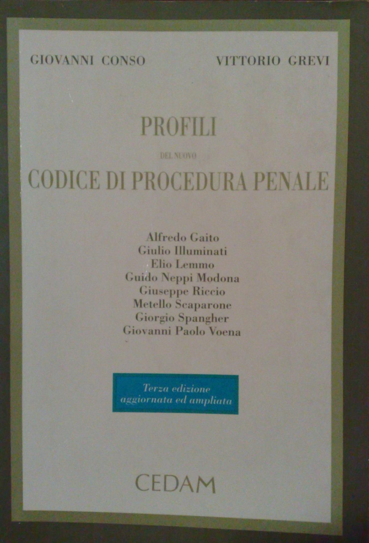 Profili del nuovo codice di procedura penale