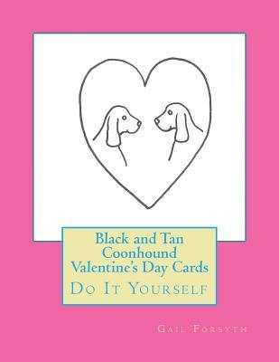 Black and Tan Coonhound Valentine's Day Cards