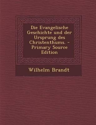 Die Evangelische Geschichte Und Der Ursprung Des Christenthums. - Primary Source Edition