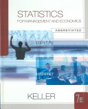 Statistics for Management and Economics, Abbreviated Edition (with CD-ROM and Infotrac)