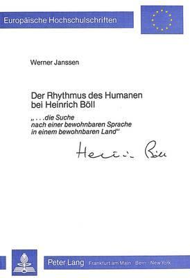 Der Rhythmus des Humanen bei Heinrich Böll