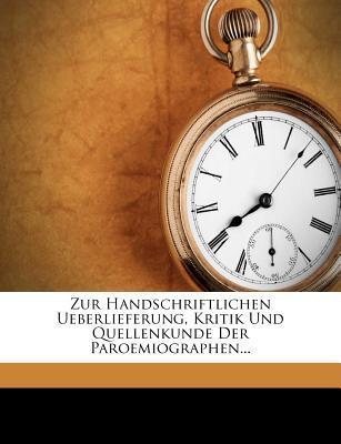 Zur Handschriftliche...