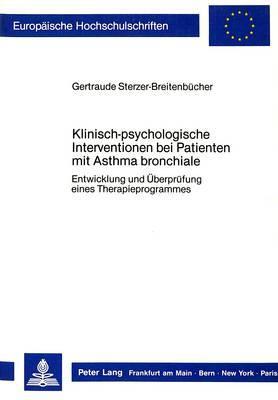 Klinisch-psychologische Interventionen bei Patienten mit Asthma bronchiale