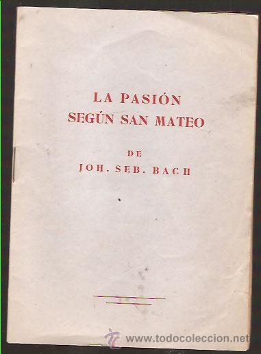 La Pasión según san Mateo
